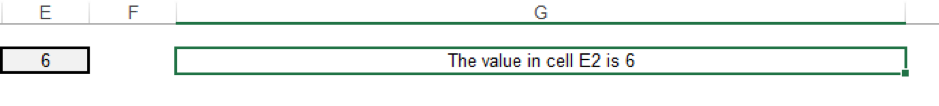 Again, change the value in the cell to see the output of the IF/ISBLANK functions