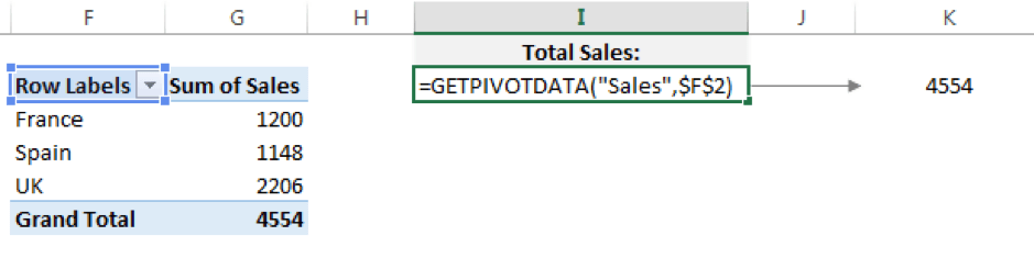 Return a simple data value using GETPIVOTDATA