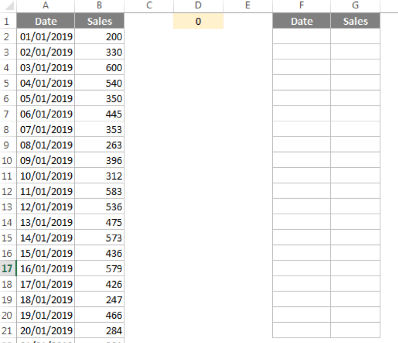 Creating a 20 row table that will dynamically populate