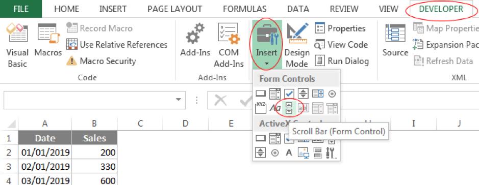 Add a scroll bar
