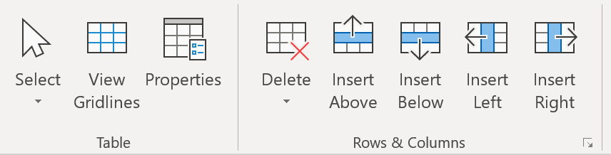 Select View Gridlines