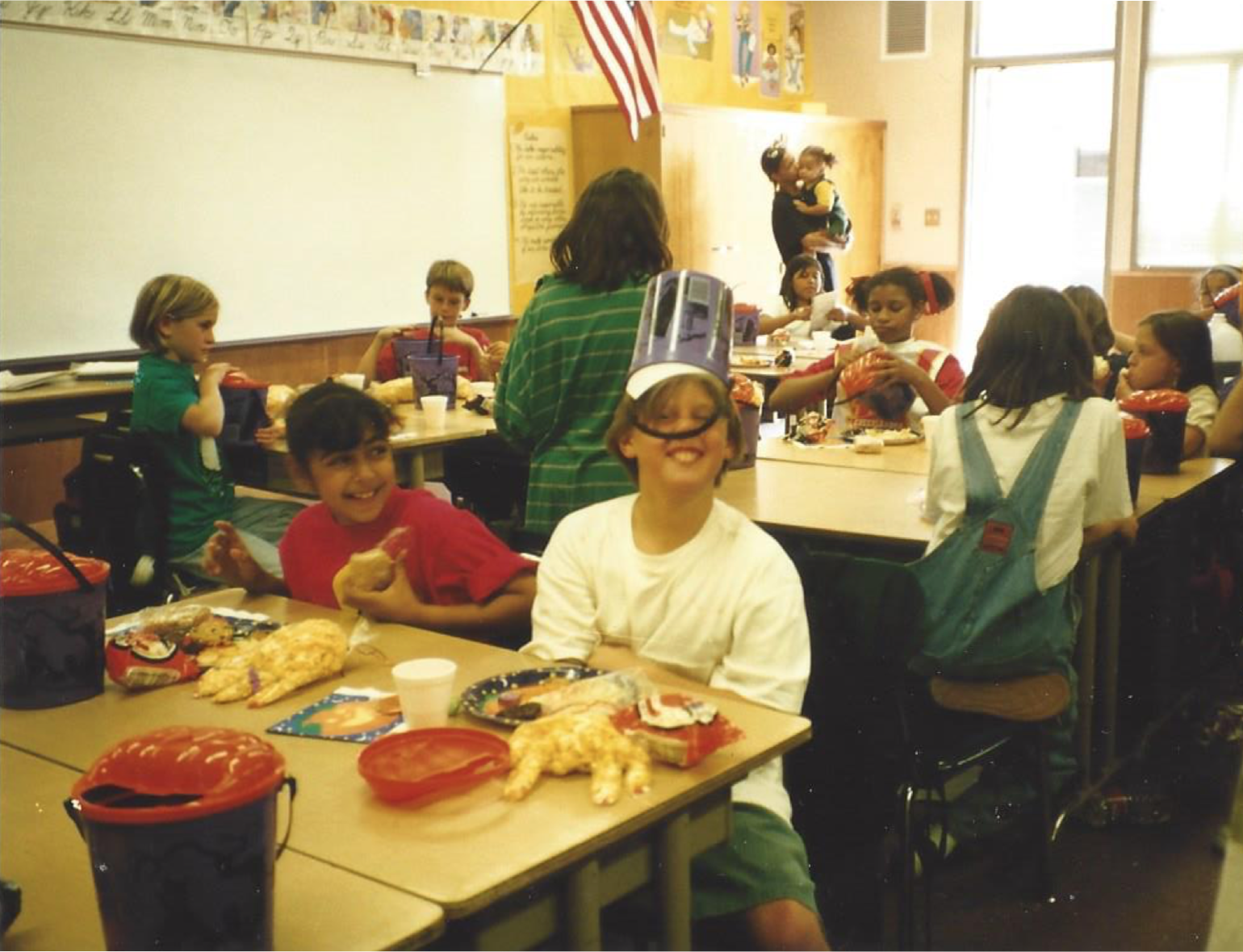 (My brother in 4th grade at class party, 1997)