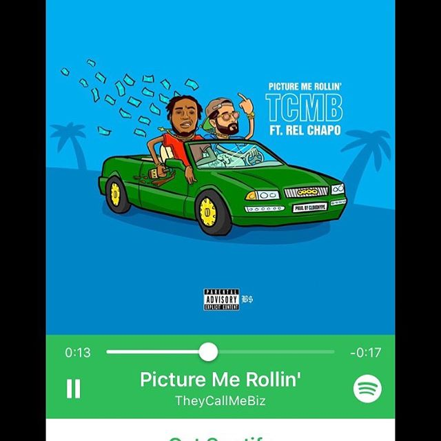 """New song """"Picture Me Rollin"""" feat @relchapo_  out now on all platforms! Link in bio.  Engineered by @bludreamzstudio @tonyrochamusic  Album art by @benskiaht"""