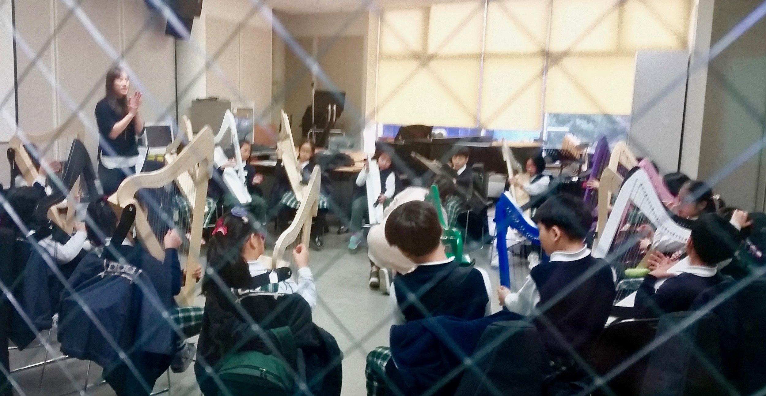 Harp students in South Korea.