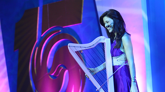 Katie Targett-Adams performs in China.
