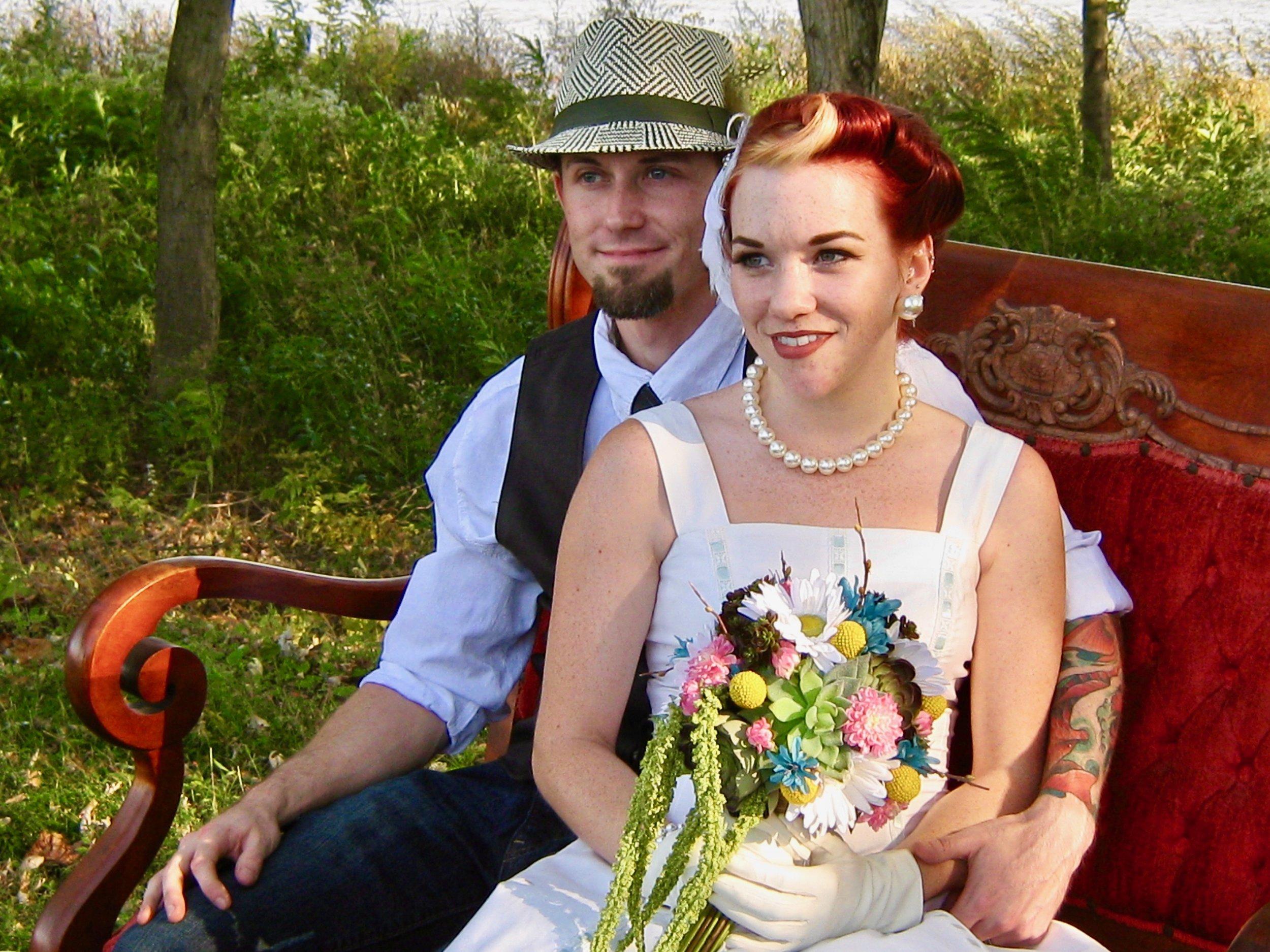 Garen & Melissa at their wedding.