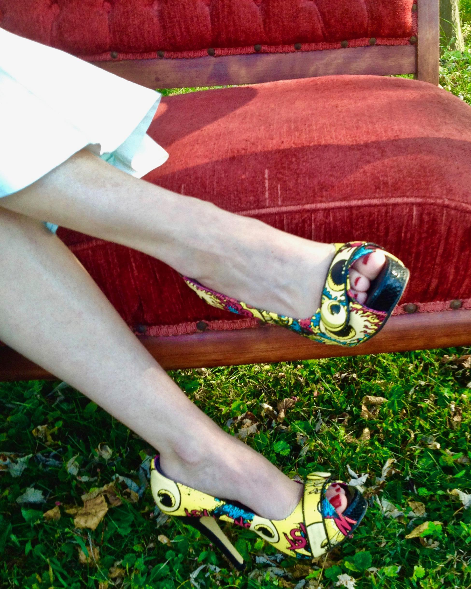 Melissa's fabulous wedding shoes.