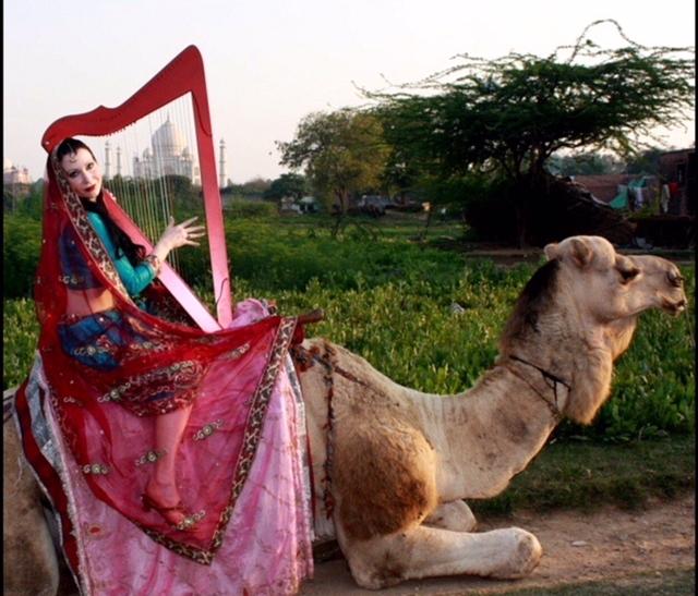 AnnaLisa Underhay at the Taj Mahal - India