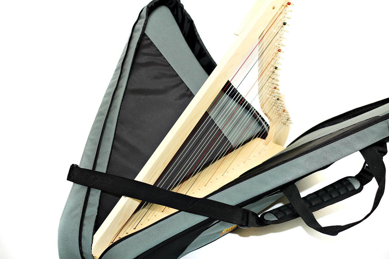 Harp inside Deluxe Bag.