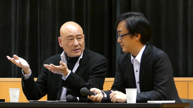 Tony Lo and Nojima Tsuyoshi in conversation at the symposium (photo courtesy of Yasunori Noto)
