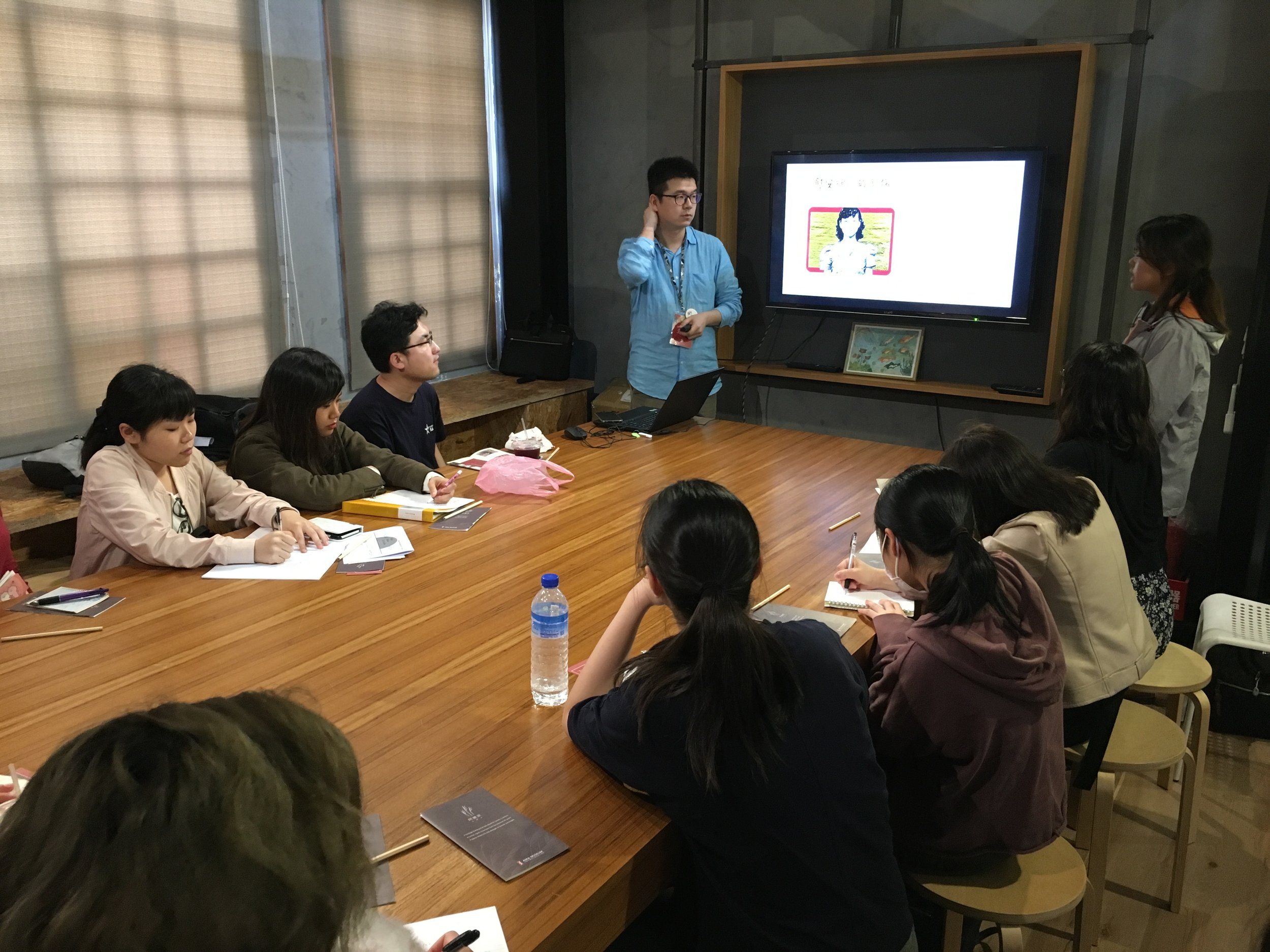 Students visiting the Ama Museum in Taipei