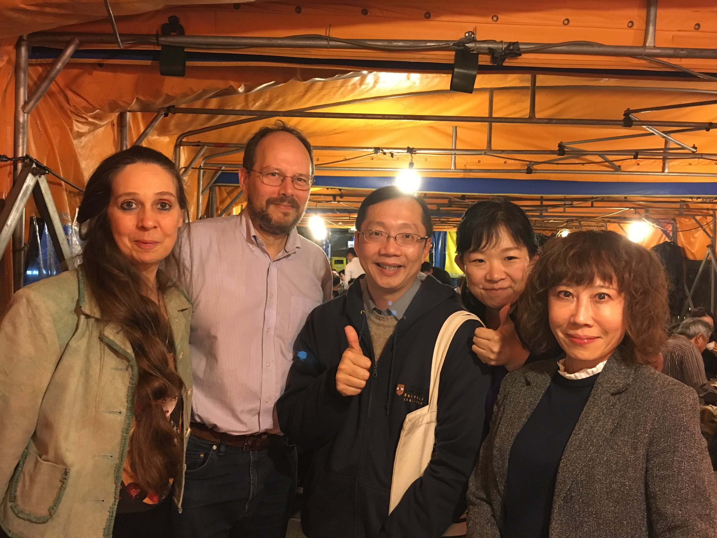 Dr. Maehara and Prof. Vickers with Prof. Nikky Lin, Prof. Ann Heylen and Dr. Lin Tzu-bin of NTNU.