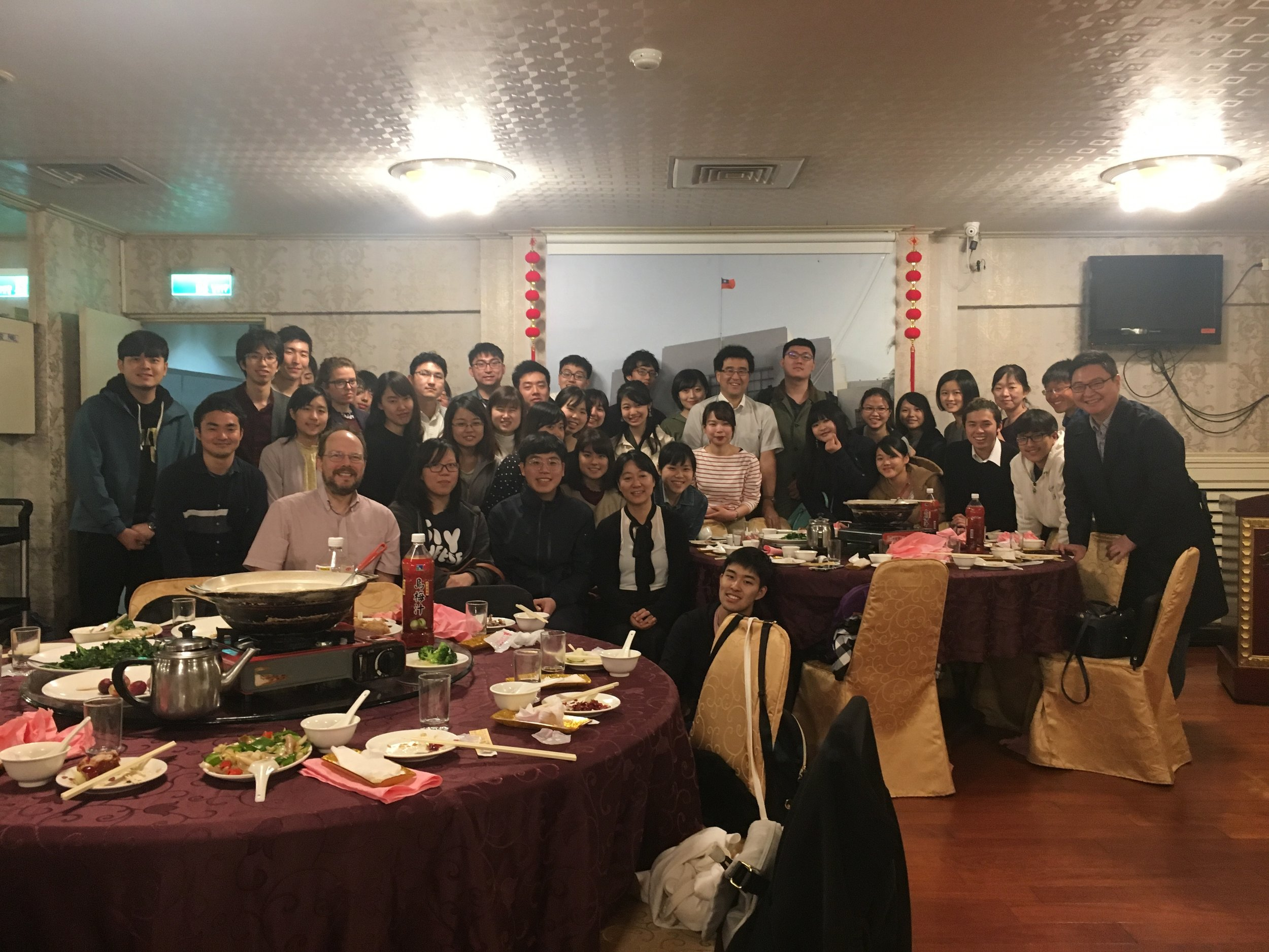 Group photo following our final dinner in Taipei.
