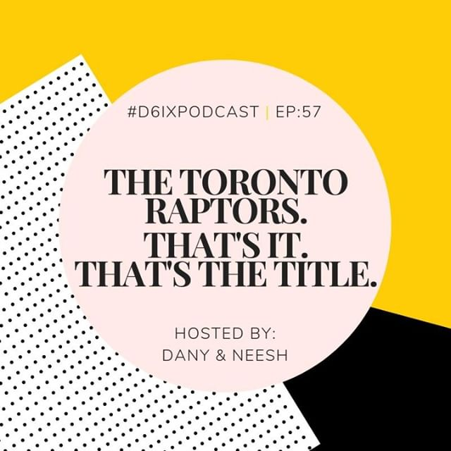 "🏀⛹🏽A new episode of the #D6IXPodcast is here! Join us as we chat about ""Bandwagoners"" and why that's not necessarily a negative thing, lessons people wish they knew when they were younger, + more!  Listen now! Link in bio.  #TorontoRaptors #WeTheNorth #RaptorFoot"