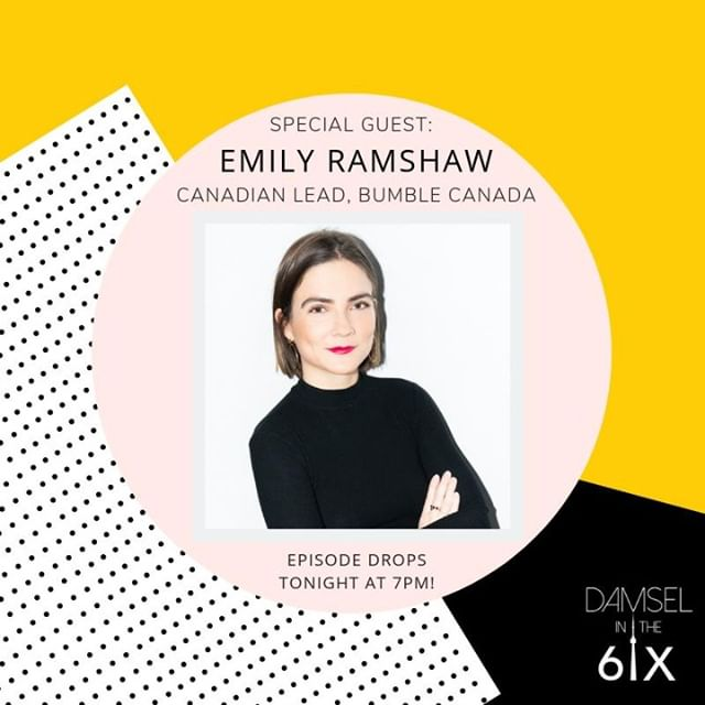 New episode alert! 🙌🏽 We're joined by @emilyjramshaw, the Canadian lead of @Bumble, to talk about women making the first move in their careers, in creating adult friendships + more!  Check it out tonight at 7PM EST on Spotify, Apple Podcasts, SoundCloud, and more! 🐝 #bumble