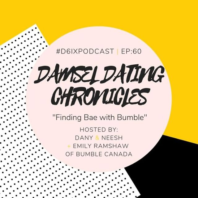 Happy Long Weekend! We have a new episode of the #DamselDatingChronicles for you! 💃🏽 We're joined again by @emilyjramshaw, the @bumble Canada Country Lead, to talk about how to use the app to make the first move, set up a first date, what to do when you experience online dating fatigue, & more! 🐝🐝🐝 Listen now! Link in bio.  #bumble #bumblecanada #onlinedating #torontopodcast #toronto