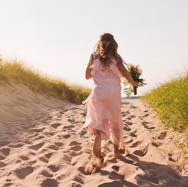 When your parents are finally getting married after years of hard lobbying on your part, you run like hell to the ceremony. . . . #monctonwedding #shediacnbwedding #kidsatweddings #flowergirl #beachvows #beachwedding #monctonweddingphotographer #weddingphotography #weddingphotographymoncton #carophoto #carophotoweddings #realportraitsoffunpeople #newbrunswickweddingphotographer #newbrunswickwedding #untraditionalwedding #candidweddingphotography #momentjunkie #wedding #weddingphotographer #realwedding #momentsovermountains #canadianwedding #canadianweddingphotographer