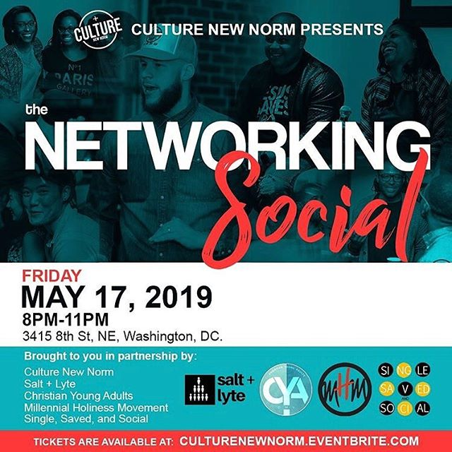 "One of our values is UNITY beyond denomination and the church walls. Therefore, we are so excited to be collaborating with some of the most amazing Christian millennial organizations (@culture_newnorm @christianyoungadults @_singlesavedandsocial @mhmgroup ) in the DMV area to discuss passion, purpose and collaborative partnership! —- Make sure you're in the room. It's going to be a lively time of engagement and encouragement. Please purchase your ticket my visiting the link in the bio. —- Make sure you write ""Salt and Lyte"" at check out so we know who sent ya 🥳! #saltlyte #cocktailattire #dmvchristians #goodtime #kingdomconnection #dmv #dc #beyondthechurchwalls"