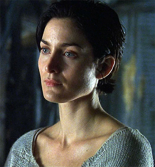 "Carrie Moss as Trinity in ""The Matrix"""