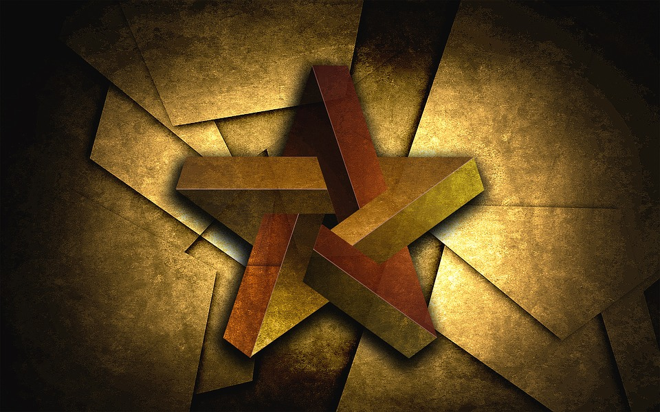 Perplexed Star Structure Geometry Graphic