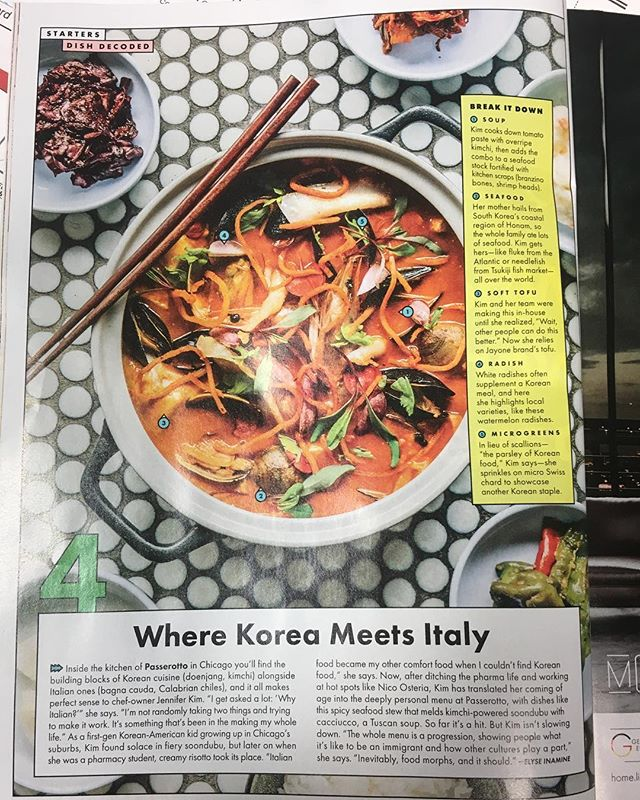 Our soondubu looks good in print 😎We're so excited to be featured in the October issue of @bonappetitmag which is on newsstands now! ❤️ #passerottochi #bonappetit #soondubu #koreanrestaurant
