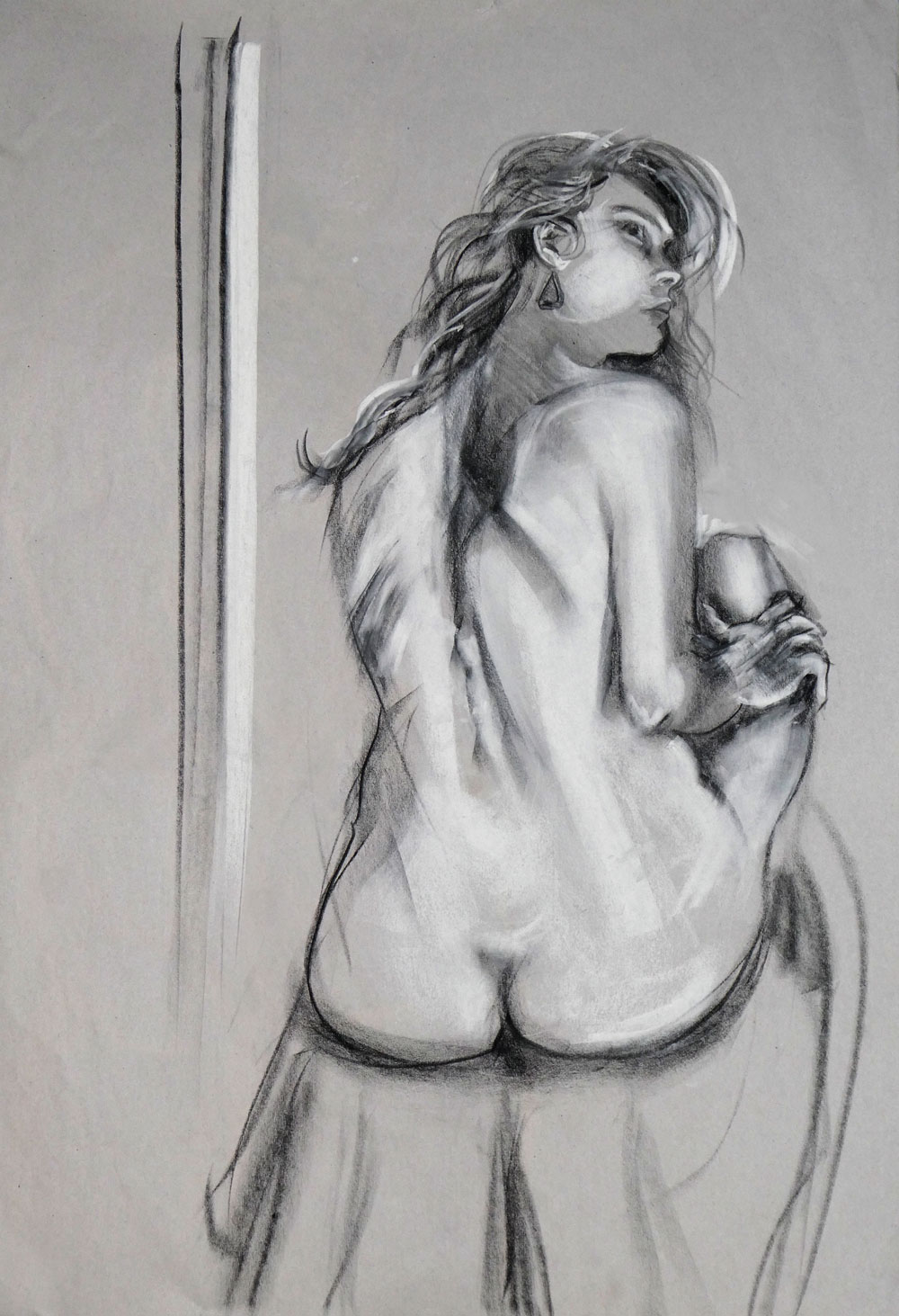 Thursdays Model :  Current 2017  Life drawings