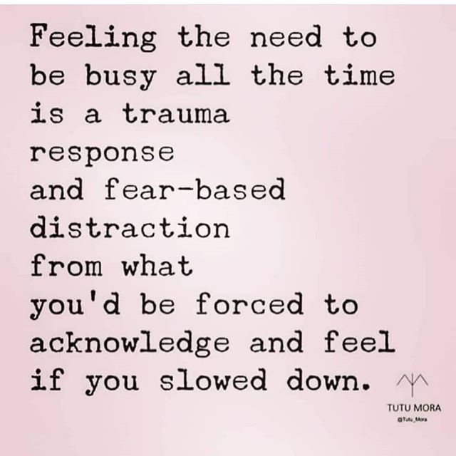 """Being still can be tough and even scary. What would being still look like for you? Equally, consider that people in your life who may be """"busy"""" often may be """"busy"""" to cope. There may be more to the story than you know.  Credit:@kbt_counseling"""