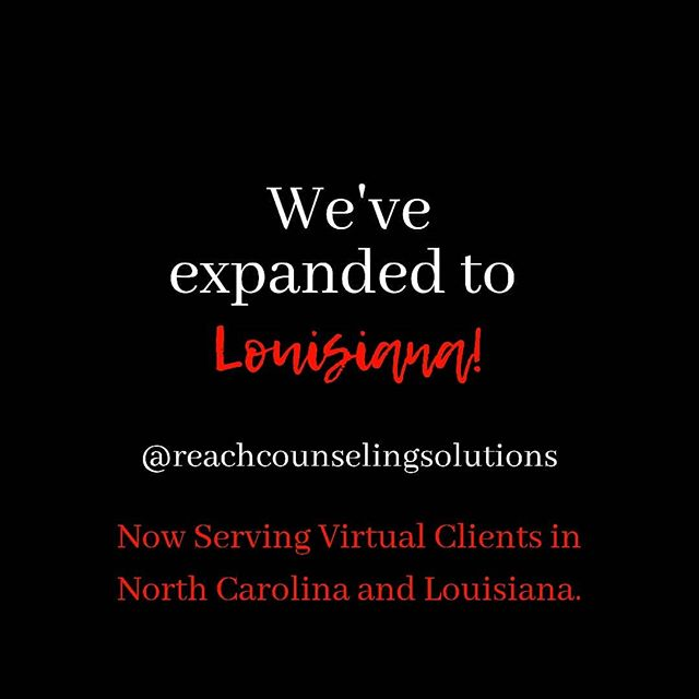 We are excited to be expanding!  Please check out our website for information about our services at www.reachcounselingsolutions.com.