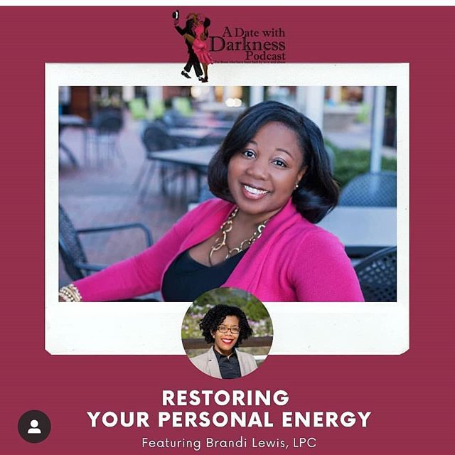 I love when I have chance to speak with people whose work I really  admire! I spoke with Dr. Natalie Jones from the @adatewithdarknesspodcast and Lifetime Counseling and Consulting recently! We talked about my work with women who are recovering from abusive relationships.  We also chatted about how to get your snap back, find joy, and cultivating self compassion. Check it out! Link in bio and www.adatewithdarkness.com