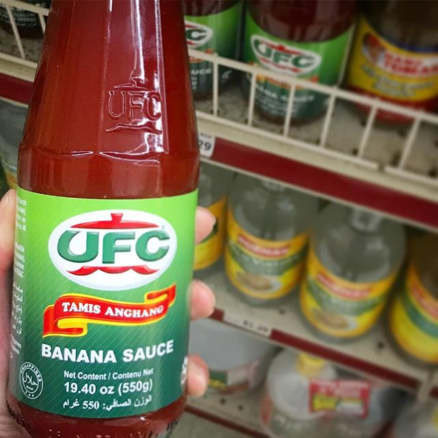 🥋UFC Banana Ketchup.  No, it's not a bottle of mixed martial arts!  Here at Pacific Ranch, it's a delicious condiment that you put in your Filipino-style spaghetti. 🍌 #filipinoketchup #spaghettiforbreakfast #bananasauce  #teamUFC #teamJUFRAN