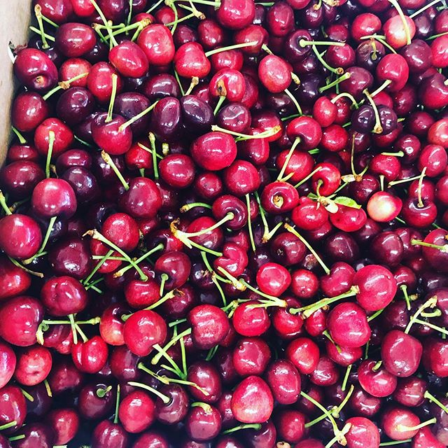Fresh, Crunchy and Sweet Cherries 🍒 on board 😋