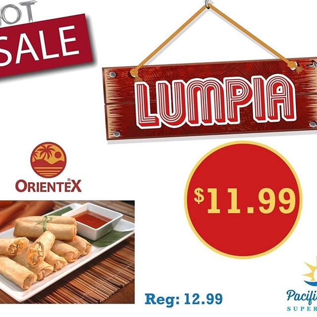 Coming to visit us this Saturday and Sunday June 29, 2019 to June 30, 2019 from 10a.m-7p.m for free food demo in the store, and try out delicious Orientex Lumpia 😋😊