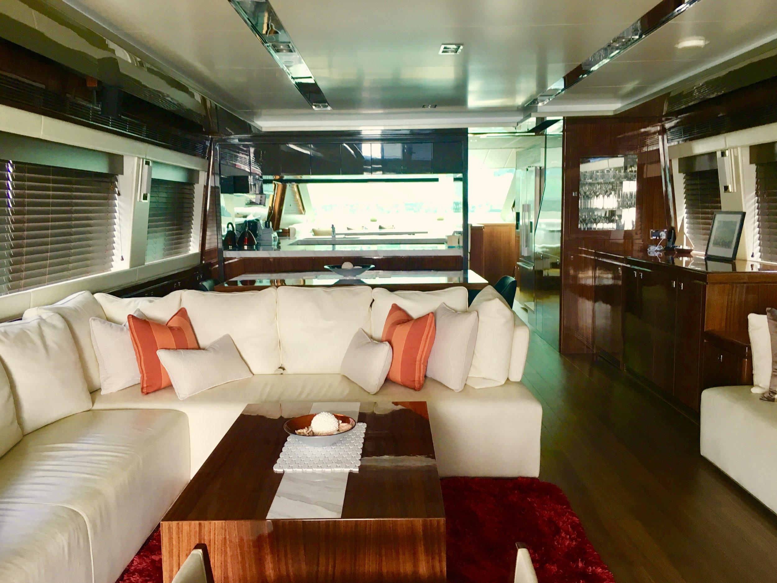Interior Saloon of Superyacht
