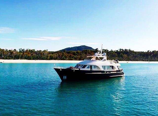 Blessed to work aboard this magical vessel @mv_aurora . @moonenyachts #crewing #detailing #maintenance #charters #yachtlife #crewlife #yachty #aurora #thewhitsundays #australia #queensland #whitehavenbeach #hotspot #tistheseason #yachtingabout