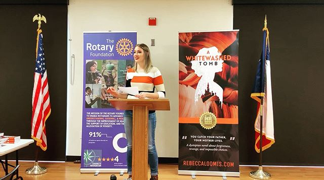 What a privilege to speak at the @rr_rotary this morning about my novel and what inspires me to write! — #indiebookawards #dystopian #youngadultbooks #bookworm #writerslife #writersofinstagram #writerscommunity #spilledink #creativewriting #authors #yawriter #bookish #booklove #bookaddict #selfpublished #indieauthor #amwriting #localauthor #amwritingfiction #newadultbooks #yabooks #weekendread #ala #roundrocktx #roundrocklocal #fallreading