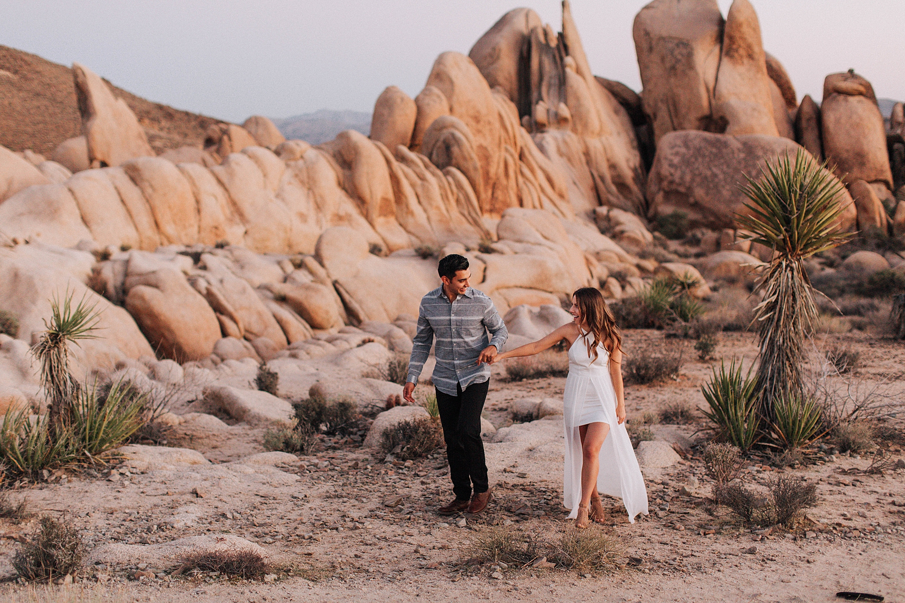 Joshua Tree Arch Rock Engagement Photos
