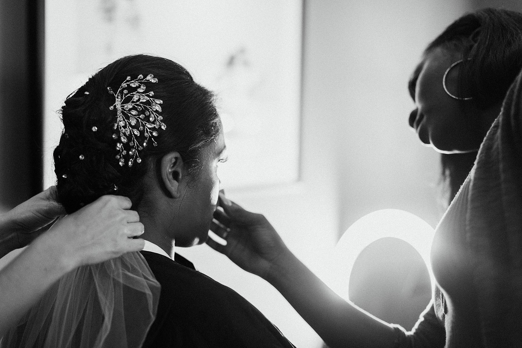 Bride Getting Ready, Millwick Los Angeles Wedding