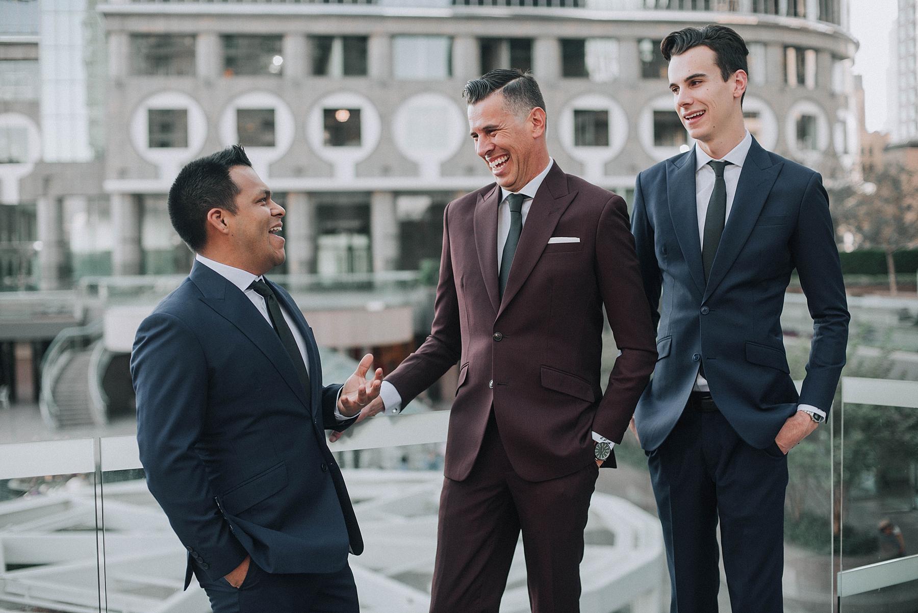 Groom and Groomsmen, Marriott Downton Los Angeles