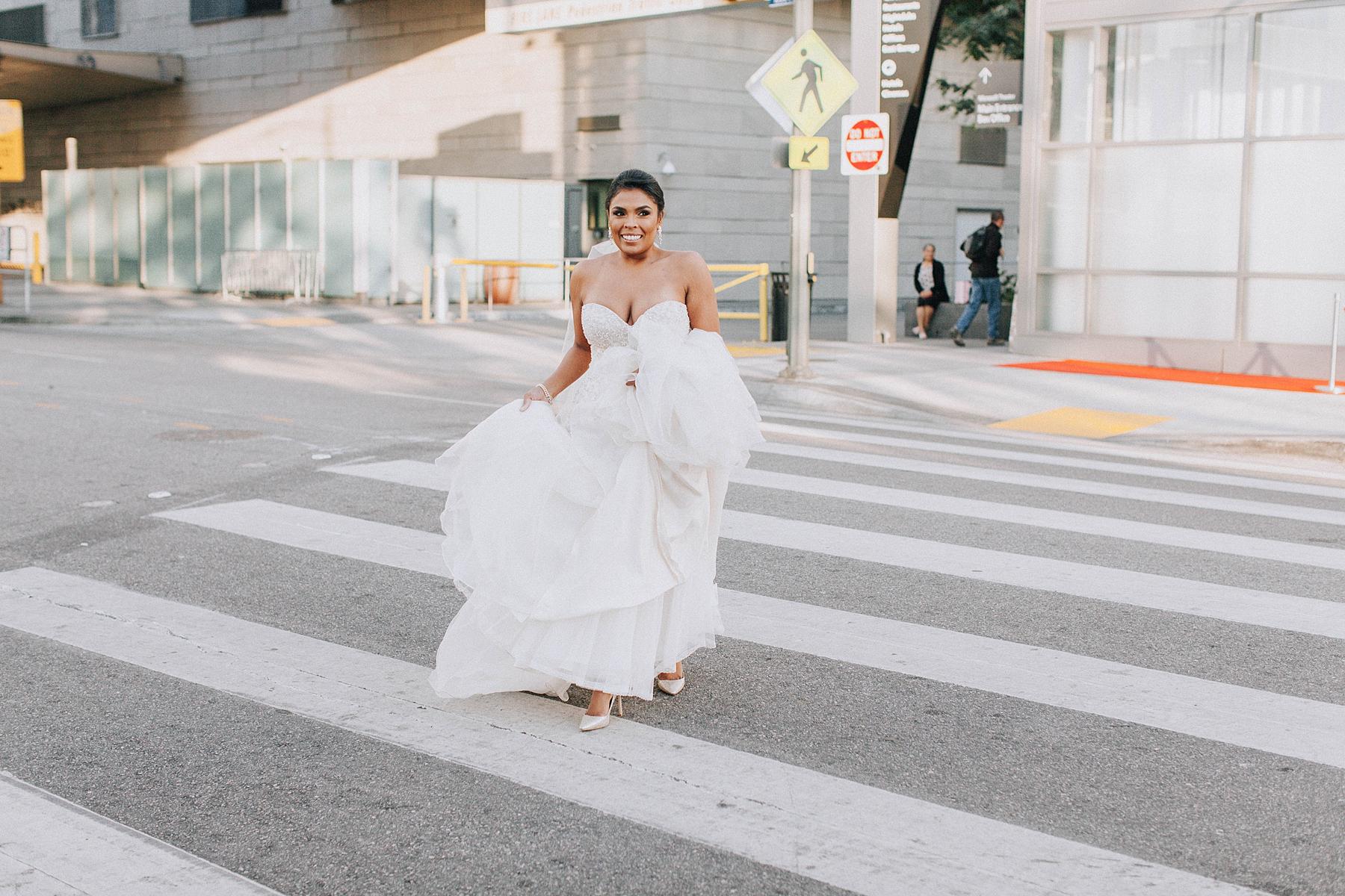Bride First Look, Marriott Downtown Los Angeles