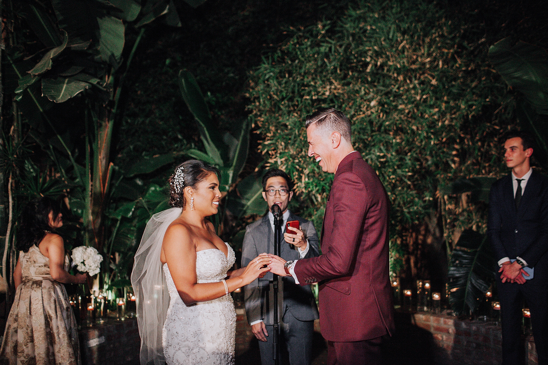 Bride and Groom Vows, Millwick Wedding Downtown Los Angeles