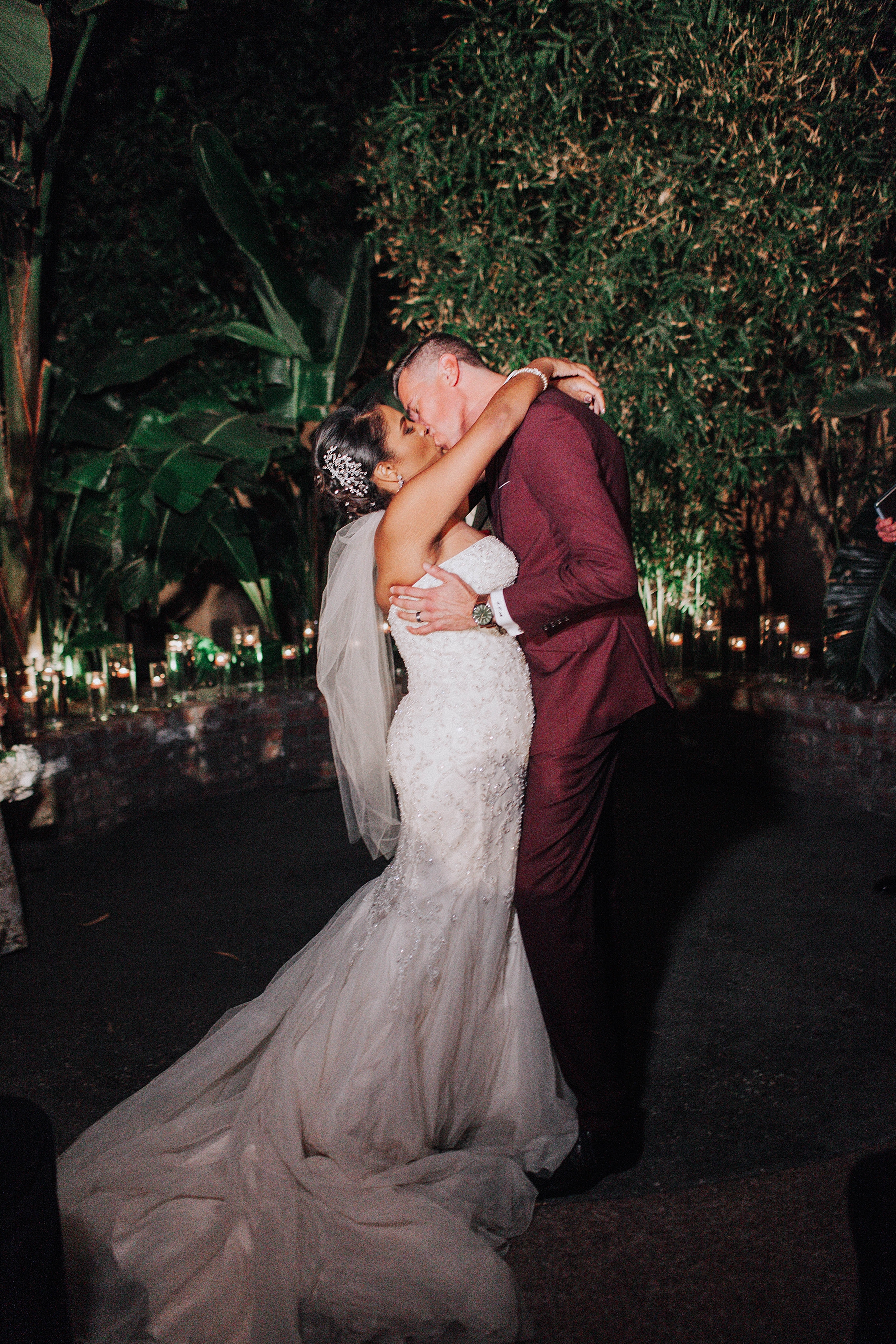 Bride and Groom after Ceremony, Millwick Downtown Los Angeles