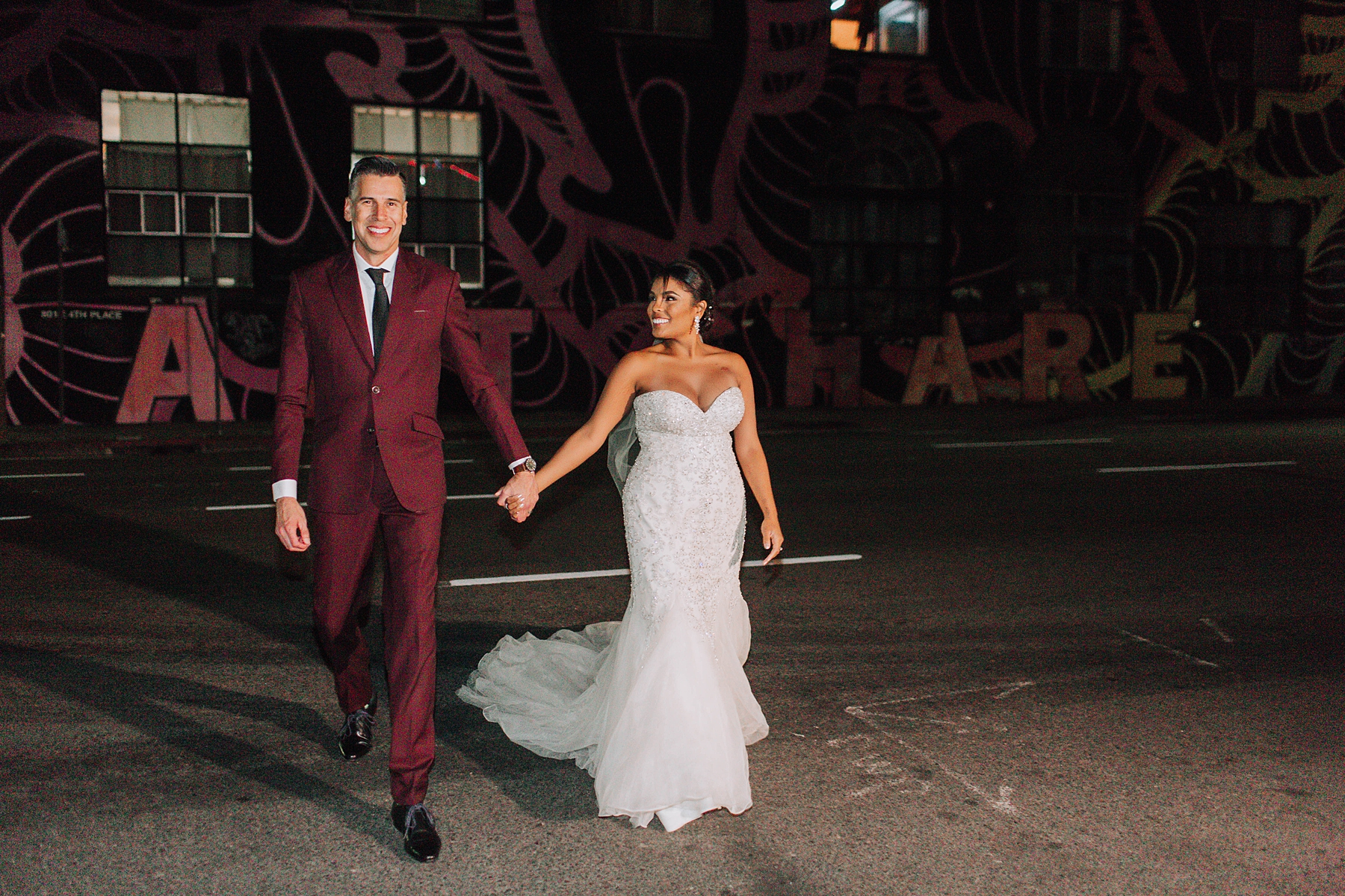 Bride and Groom Portraits, Millwick Downtown Los Angeles Wedding