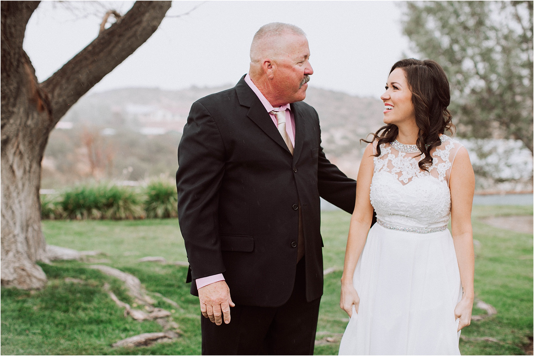 Santa Clarita Intimate Wedding & Elopement Photography - first look with bride's dad