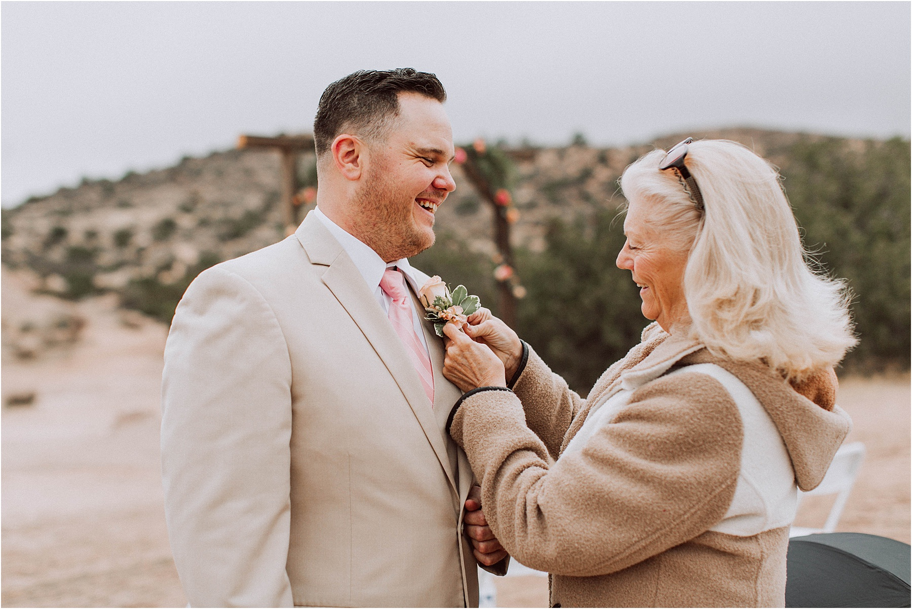 Vasquez Rocks Intimate Wedding & Elopement Photography - Groom's boutonniere