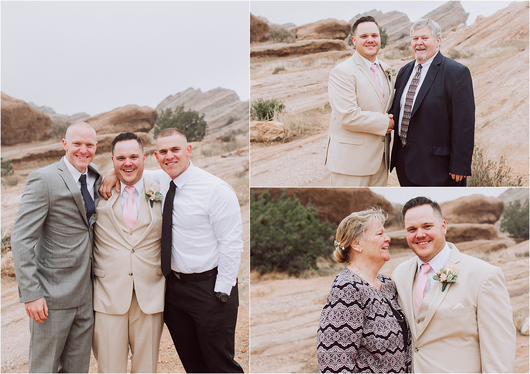 Vasquez Rocks Intimate Wedding & Elopement Photography - Family Formal Portraits