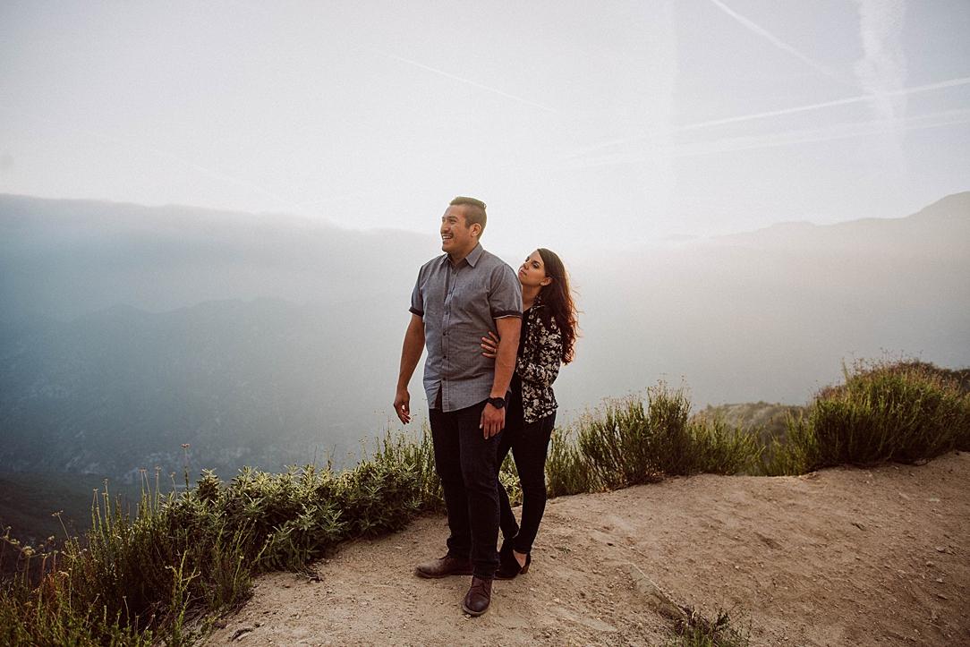 Ashleigh & Michael | Angeles Crest Forest Engagement