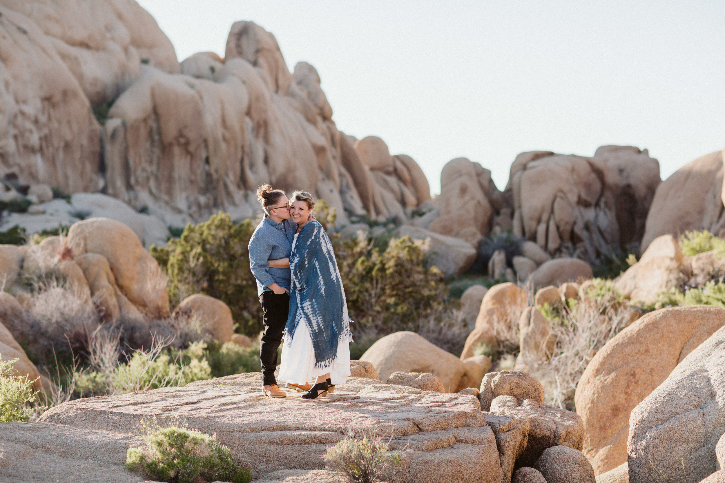 lgbt engagement photo shoot joshua tree california