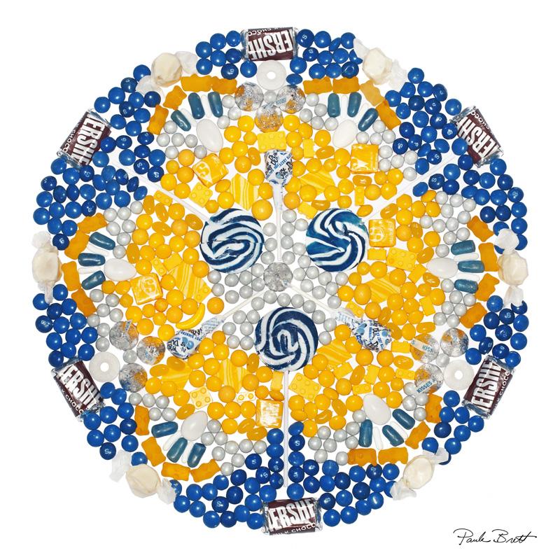 Blue + Gold Candy Mandala