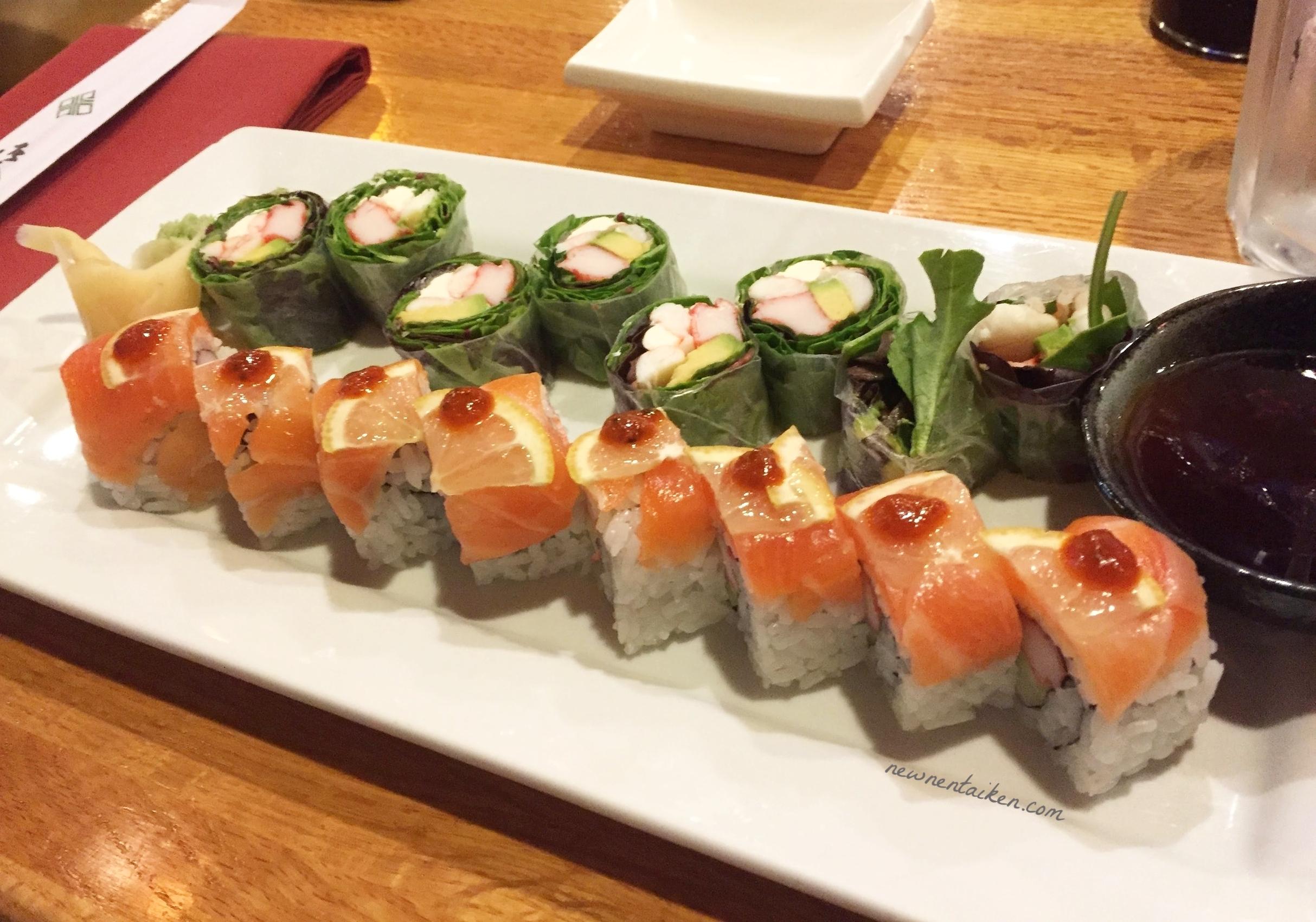 nona sushi moon and sunset rolls