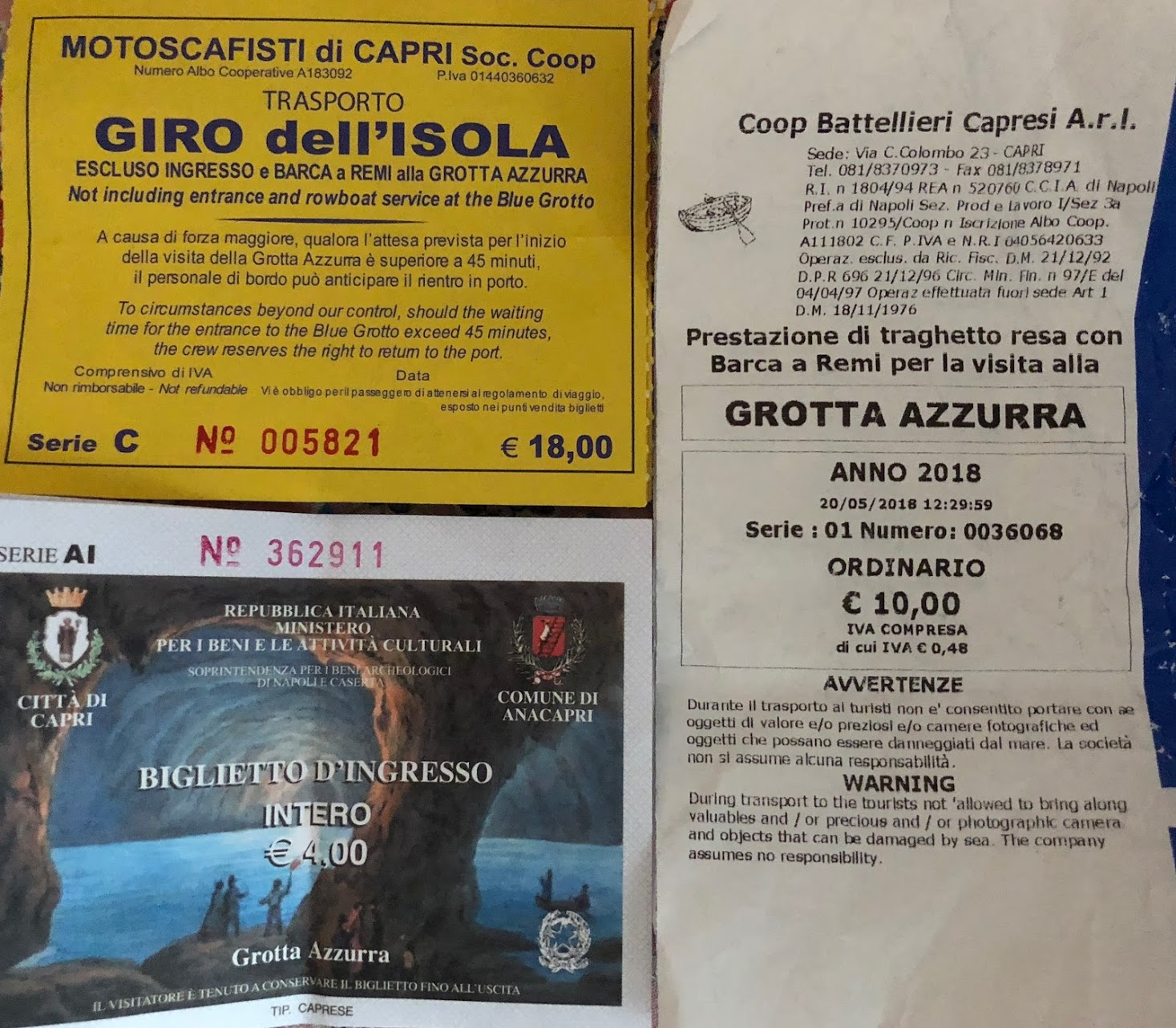 Blue Grotto Capri Tickets and Prices